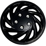 TuningPros WSC-868B15 Hubcaps Wheel Skin Cover 15-Inches Matte Black Set of 4