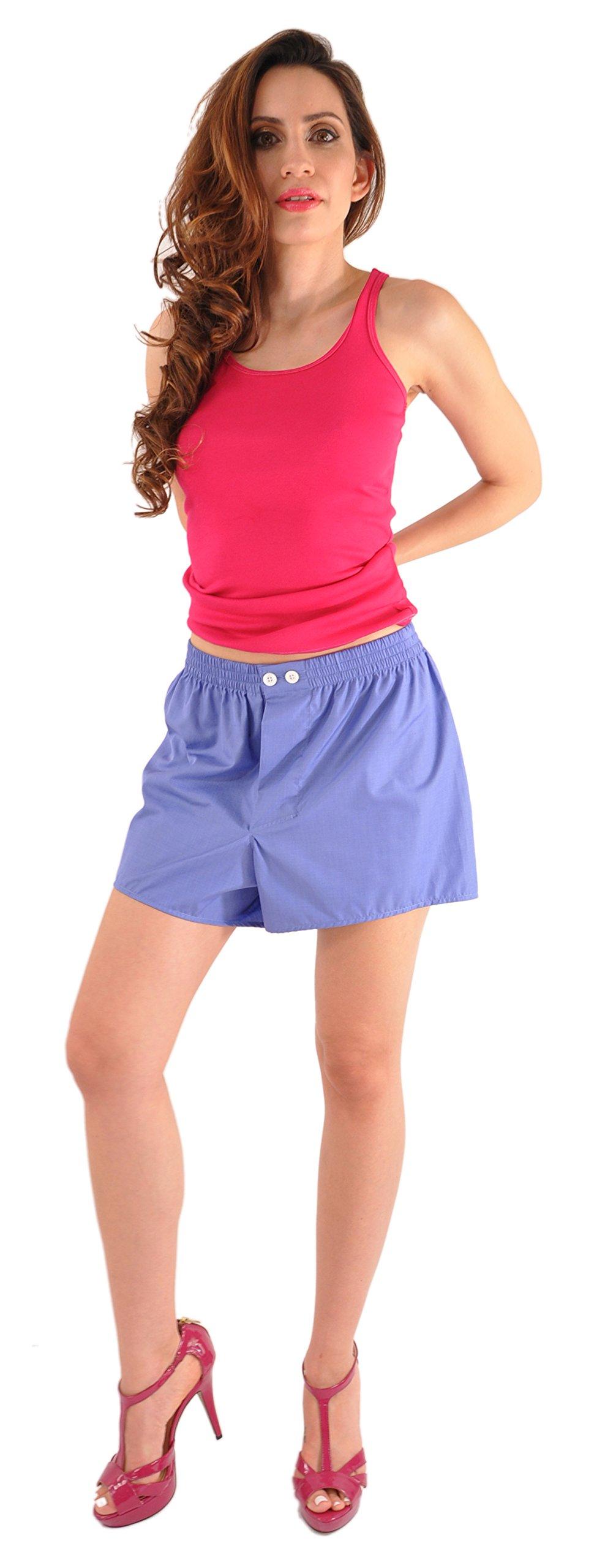 World's Finest Woven Boxer Shorts - 3 Pairs Medium/Blue by Kabbaz-Kelly (Image #4)