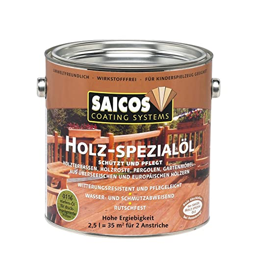 2 5l Saicos Holz Spezial Ol Kiefer Holzol Terrassenol Hartholzol