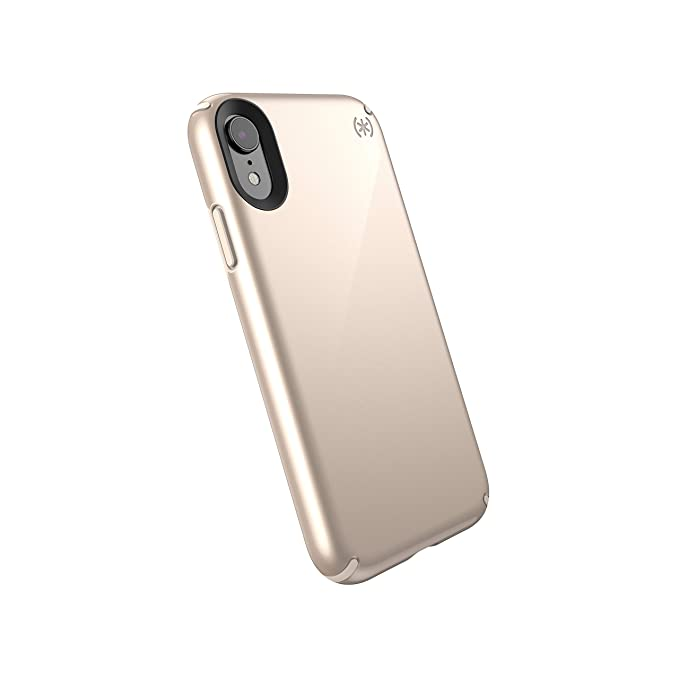 separation shoes 55a31 84220 Speck Products Presidio Metallic iPhone XR Case, Nude Gold Metallic/Nude  Gold