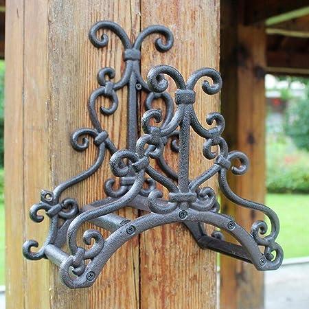 CKH - Soporte para manguera de jardín de hierro forjado, diseño retro europeo retro de hierro forjado: Amazon.es: Hogar