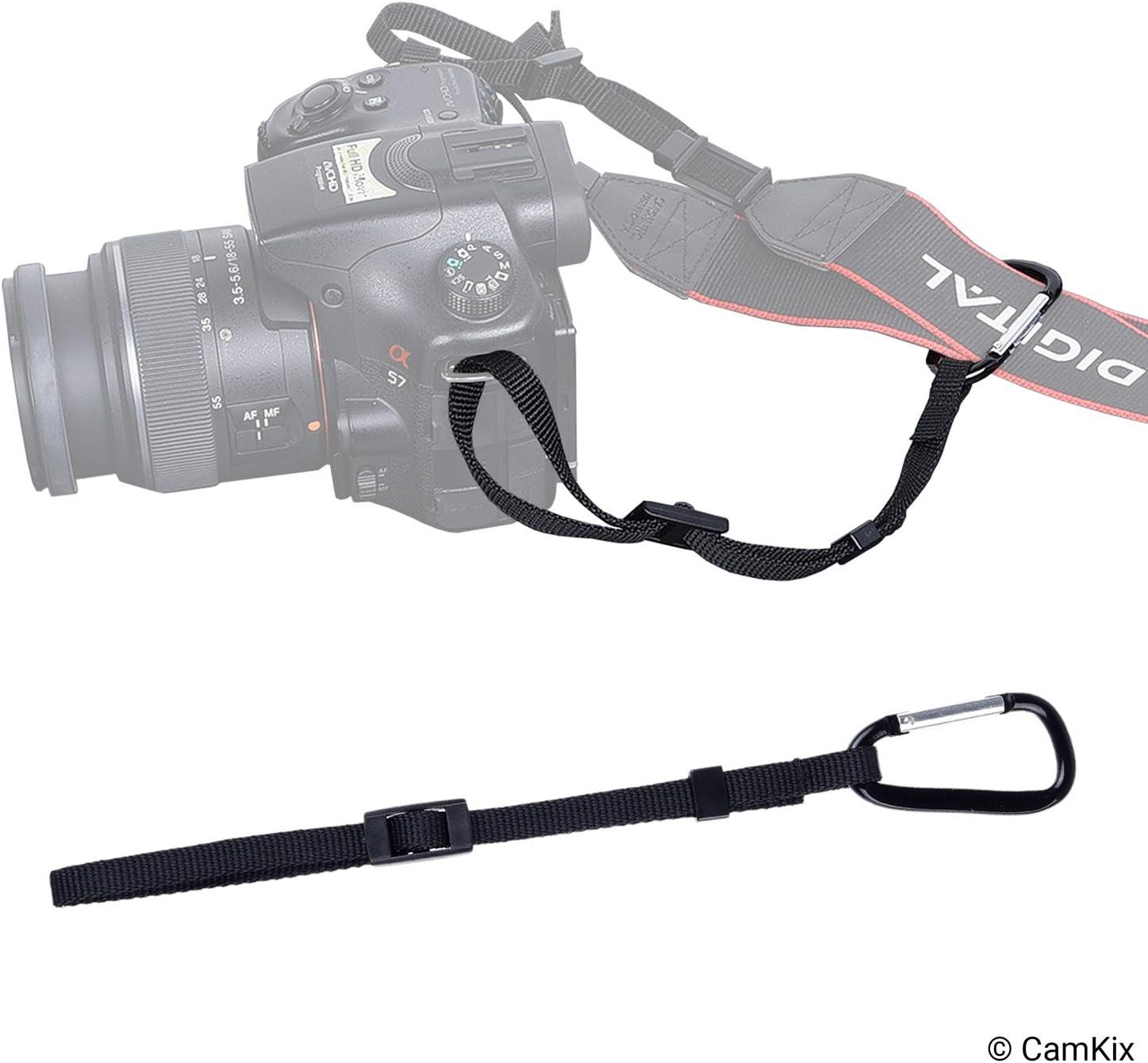 2X Atadura de la cámara con mosquetón – Doble asegure su cámara ...