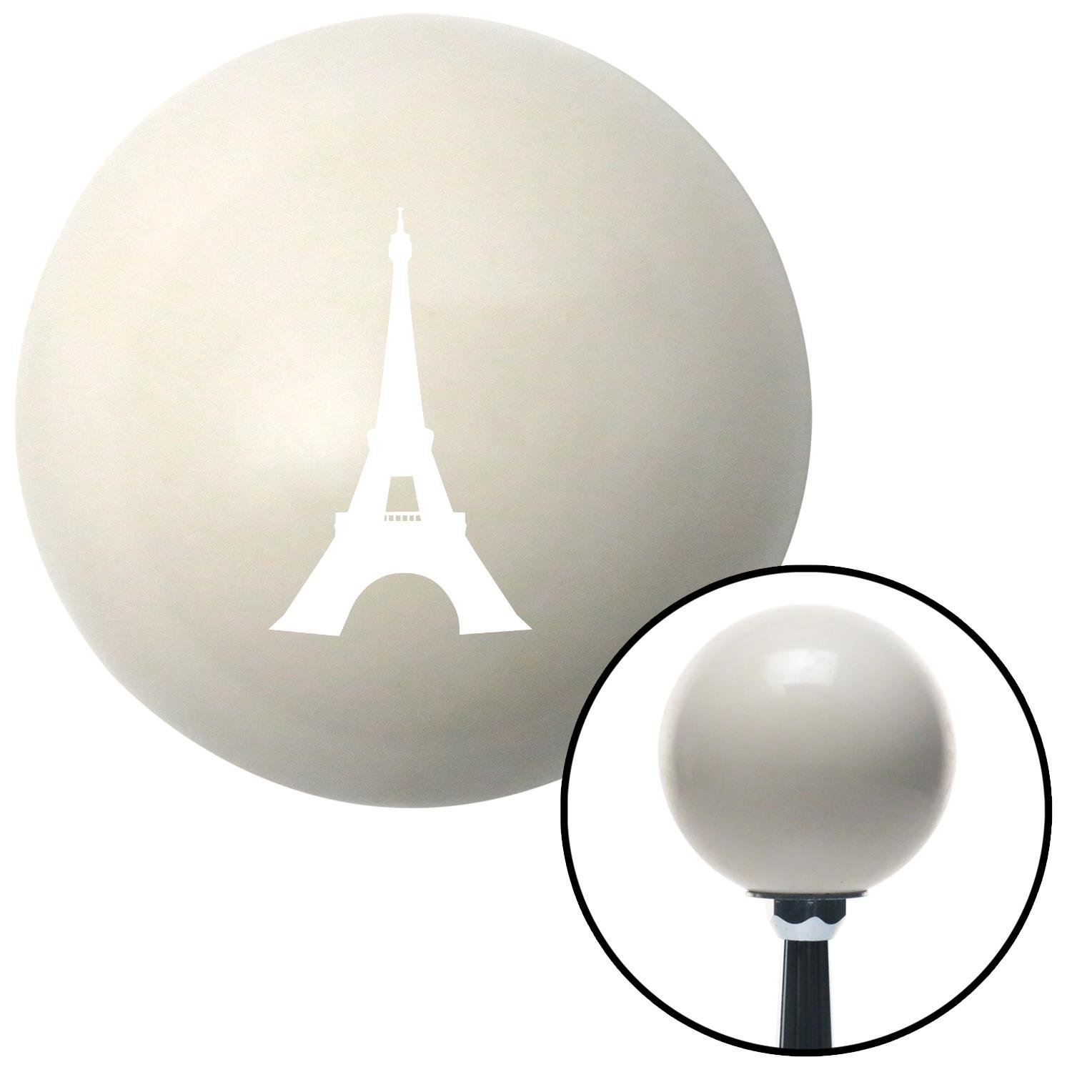 American Shifter 30154 Ivory Shift Knob with 16mm x 1.5 Insert White The Eiffel Tower
