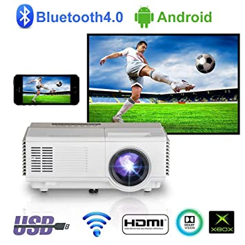 Proyector inalámbrico portátil HDMI Bluetooth, Mini Android ...