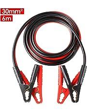 MVPower Starthilfekabel für Auto PKW LKW, Überbrückungskabel aus Kupfer 6m 30mm² 1500A für 12V und 24V inkl. Handschuhe und Aufbewahrungstasche (6M 1500A)