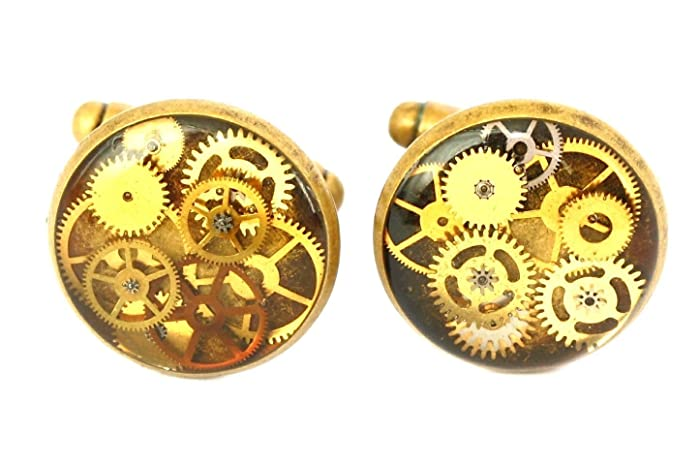 Amazon com: Steampunk Cufflinks Bronze, Watch Parts