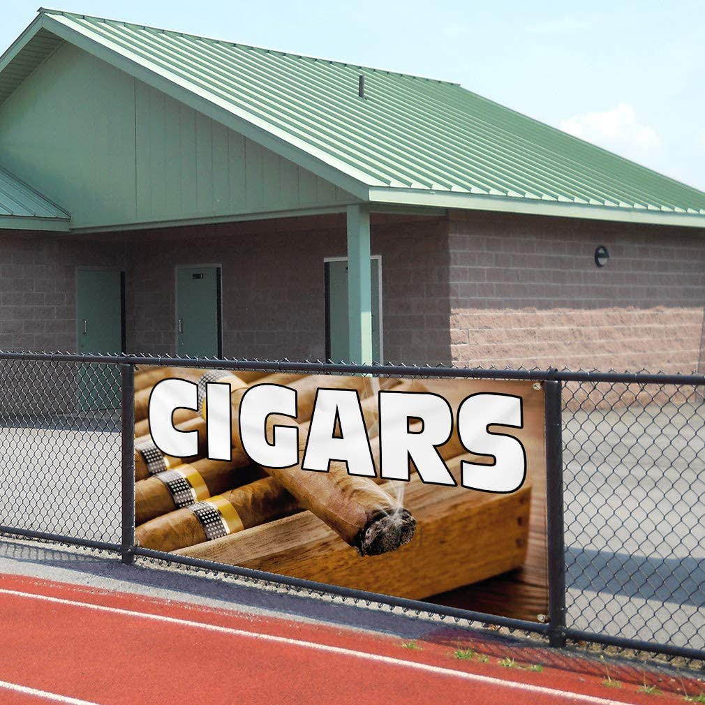 Vinyl Banner Sign Cigars #1 Style B Health Care Cigar Marketing Advertising Brown Multiple Sizes Available 28inx70in 4 Grommets Set of 2