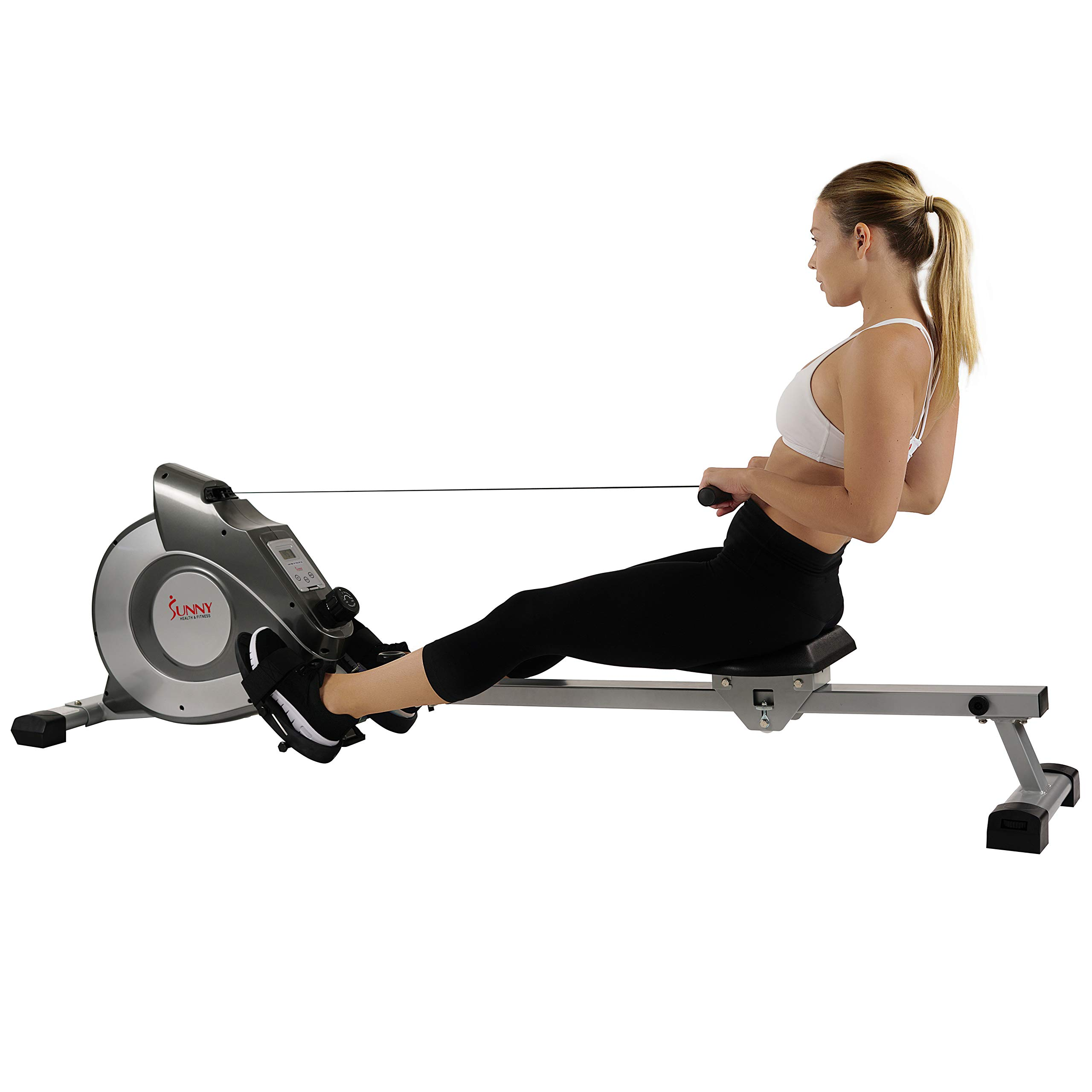 Sunny Health & Fitness Magnetic Rowing Machine with LCD Monitor by SF-RW5515 by Sunny Health & Fitness (Image #7)