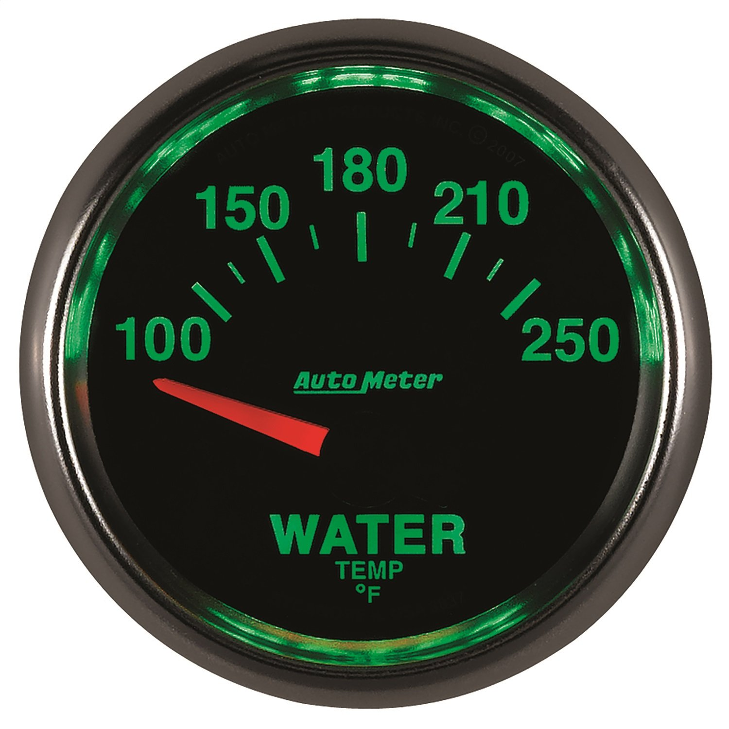 Auto Meter 3837 GS 2-1/16'' 100-250 F Short Sweep Electric Water Temperature Gauge