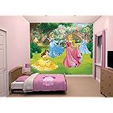 Room Studio 43800 Fresque Murale Géante Disney Princesses 12 Lés Plastique Vert 305 x 0,1 x 243 cm