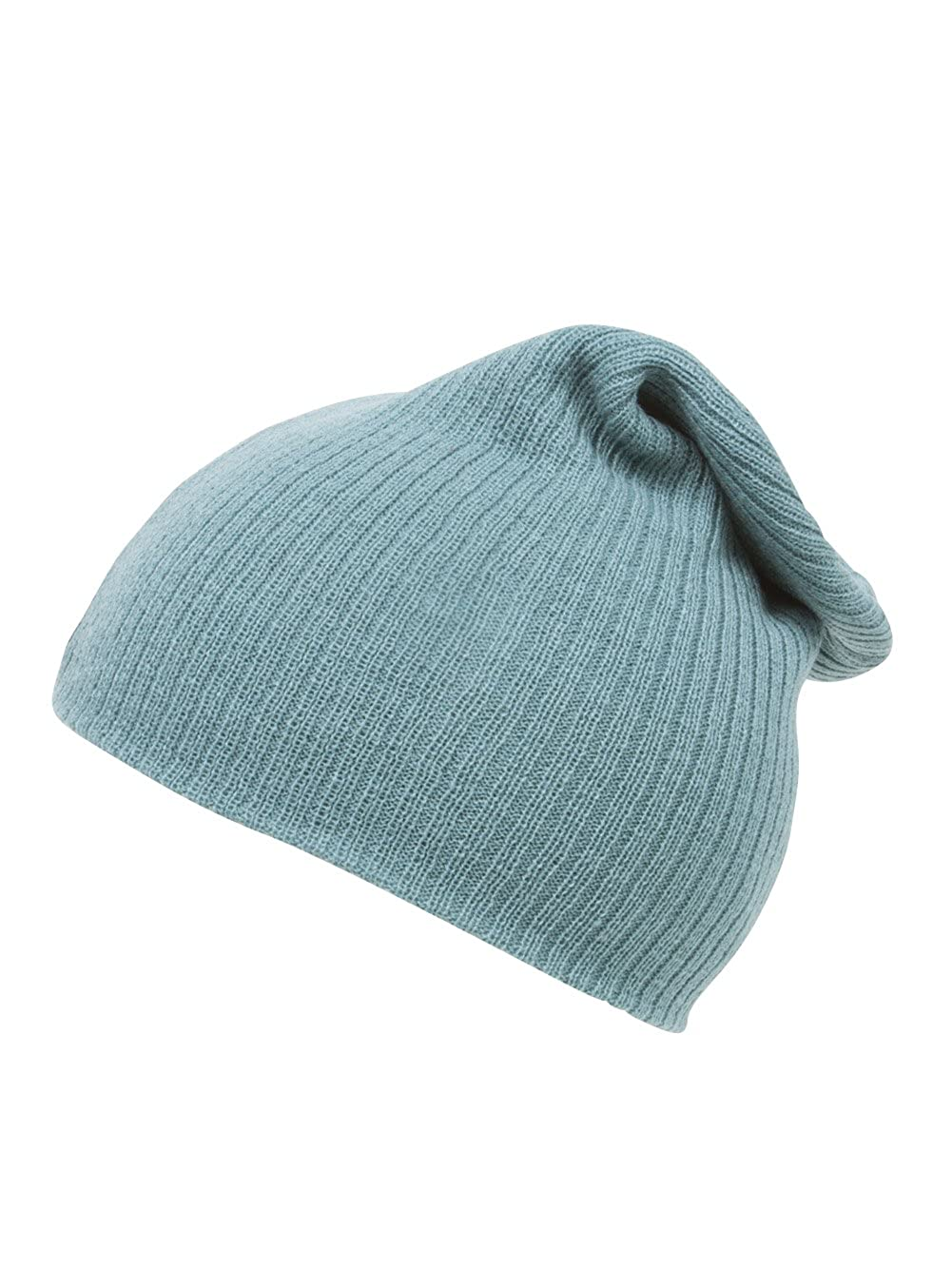a64cded4347 Amazon.com  Long Slouchy Ribbed Beanie - Pastel Teal  Clothing