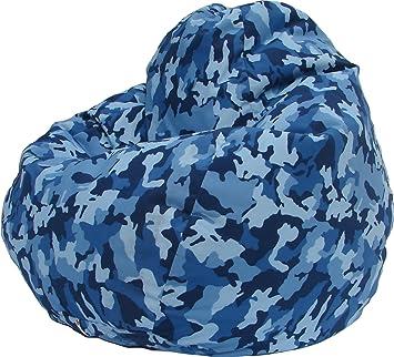 Urban Camo Bean Bag Chair In Blue