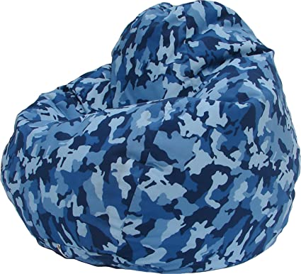 Urban Camo Bean Bag Chair In Blue
