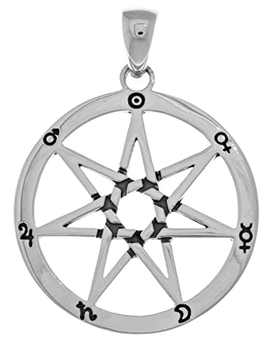 Amazon jewelry trends sterling silver seven point fairy star jewelry trends sterling silver seven point fairy star heptagram pendant aloadofball Gallery