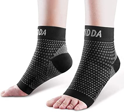2 pairs of running compression ankle socks aids plantar fasciitis pink size 6-11