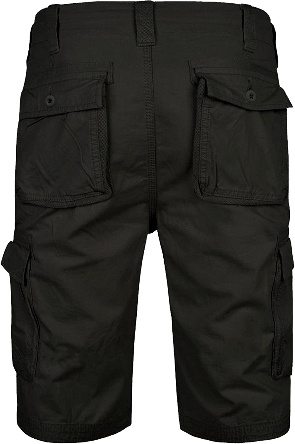 WestAce Mens Camo Shorts Cargo Combat Army Half Pant Work Wear Camouflage 100% Cotton Chino Shorts Black - Afs Chino