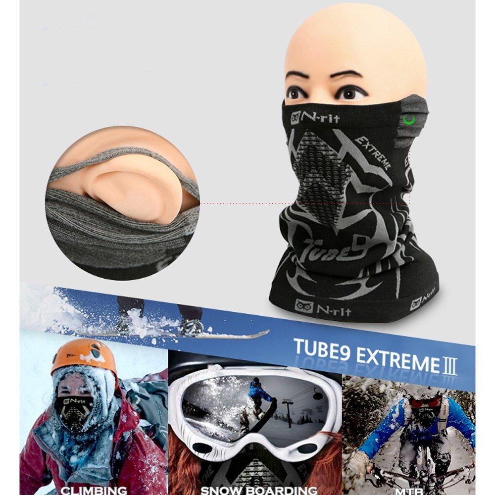 Amazon.com: Cuello de forro polar Warmer n-rit Tubo 9 ...