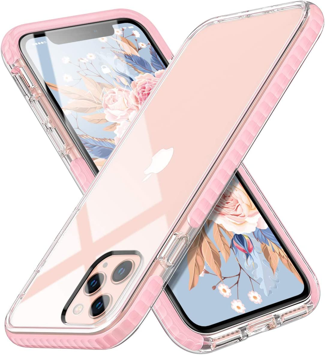 MATEPROX iPhone 11 Pro Case Clear Thin Slim Crystal Transparent Cover Shockproof Bumper Case for iPhone 11 Pro 5.8(Pink