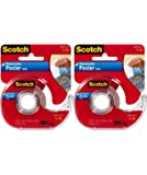 """Scotch Removable Poster Tape, 3/4-inch x 150-inches, Clear, 1 Roll/Pack- .2 Pack (3/4""""X150"""")"""