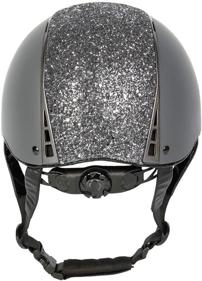 Harrys Horse Sicherheitsreithelm Centaur grau//Titan mit Glitzer