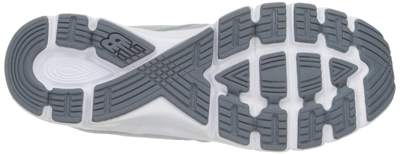 New Balance Women's 575v2 Comfort Ride Running Shoe B01943HTCA 12 B(M) US Metallic Silver/Blue