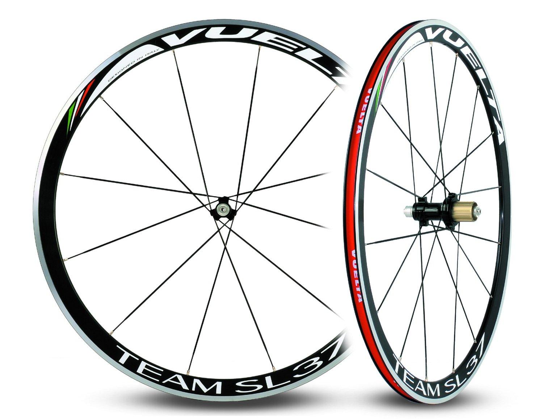 Vuelta Team SL37ハンドビールド合金ストレートプルクリンチャー11spロードホイールセット   B079TZYT3D