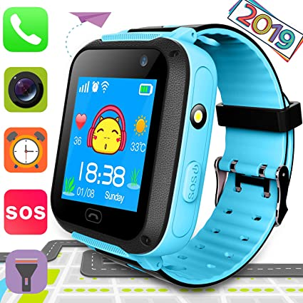 Amazon.com: Reloj inteligente para niños y niñas con ...