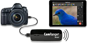 CamRanger Mini (Wireless Remote for Canon and Nikon DSLR Cameras, for iPhone, iPad and Android Devices, intervalometer, Bulb Mode, Change Settings, Camera Control)