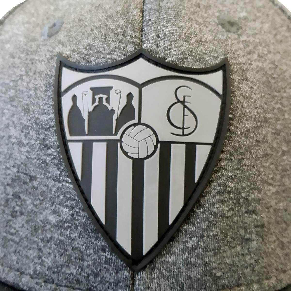 Talla Unica Unisex Adulto Sevilla CF Gorra Premium Gris Claro Sevilla FC