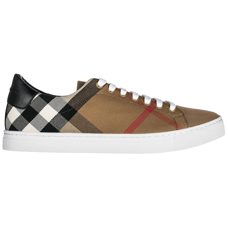 Burberry Zapatos Zapatillas de Deporte Hombres en algodón marrón 41 EU