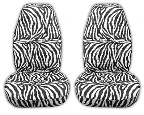 Awe Inspiring Amazon Com Zebra Print Seat Covers For Car Truck And Machost Co Dining Chair Design Ideas Machostcouk