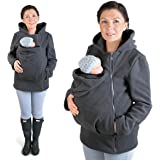 FUN2BEMUM Warm Polar Fleece, Hoodie/Pullover for two/for Baby Carriers GRAPHITE NP12