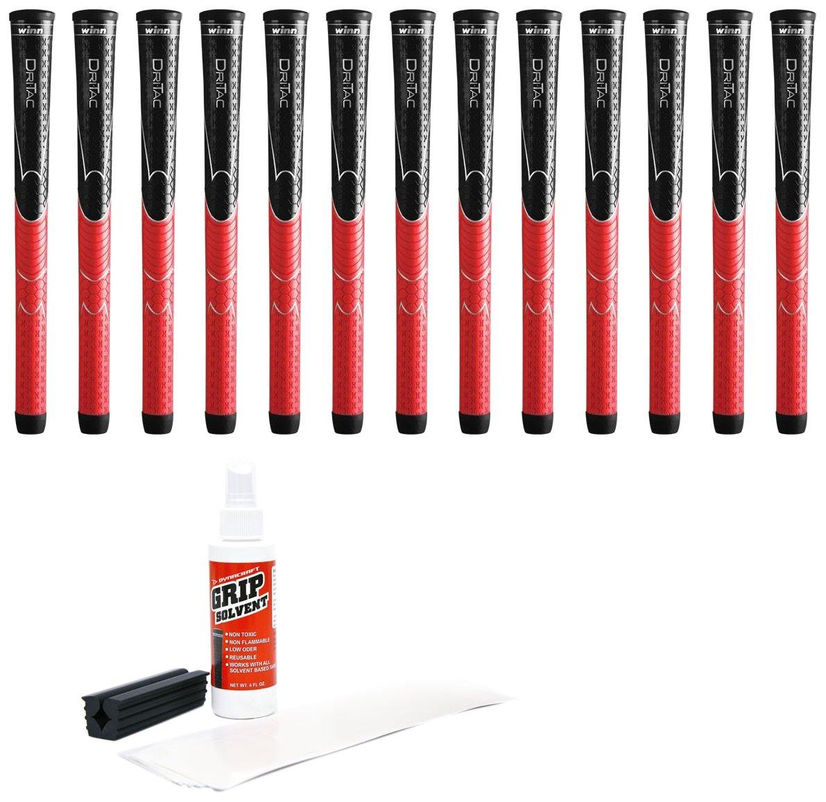 Winn Dri-Tac Standard Grip Kit (13-Piece), Black/Red by Winn
