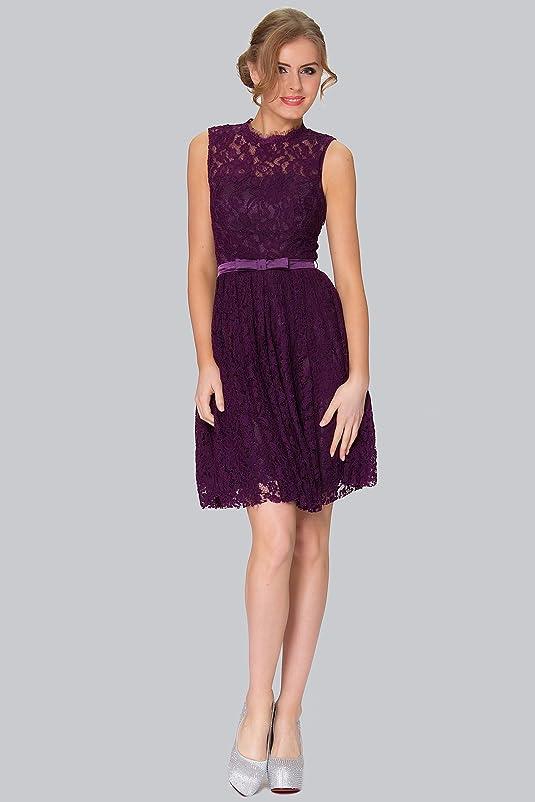 SEXYHER Arbeiten Sie Spitze Covered Short Backless Abend-Kleid Brautjungfer  - COYP8003: Amazon.de: Bekleidung