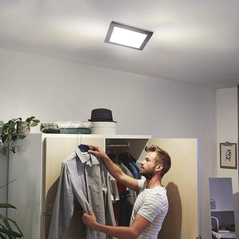 Xing ruiying LED Deckenleuchte mit Bewegungsmelder innen warmwei/ß 18W 1300LM mit D/ämmerungssensor 22*22cm