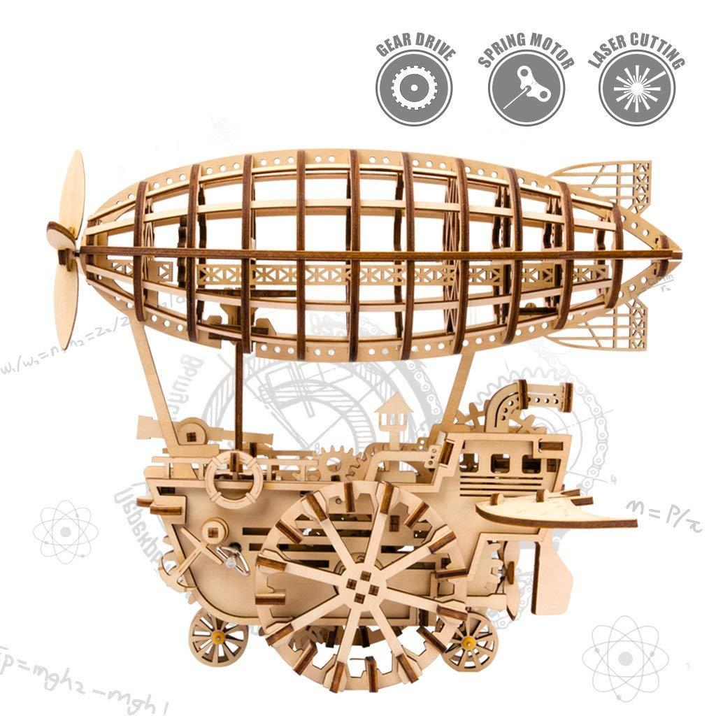 Mechanisches Modell/3D-Holzpuzzle/DIY Toy/Flugzeug/Montagegetriebe/für Kinder, Jugendliche und Erwachsene