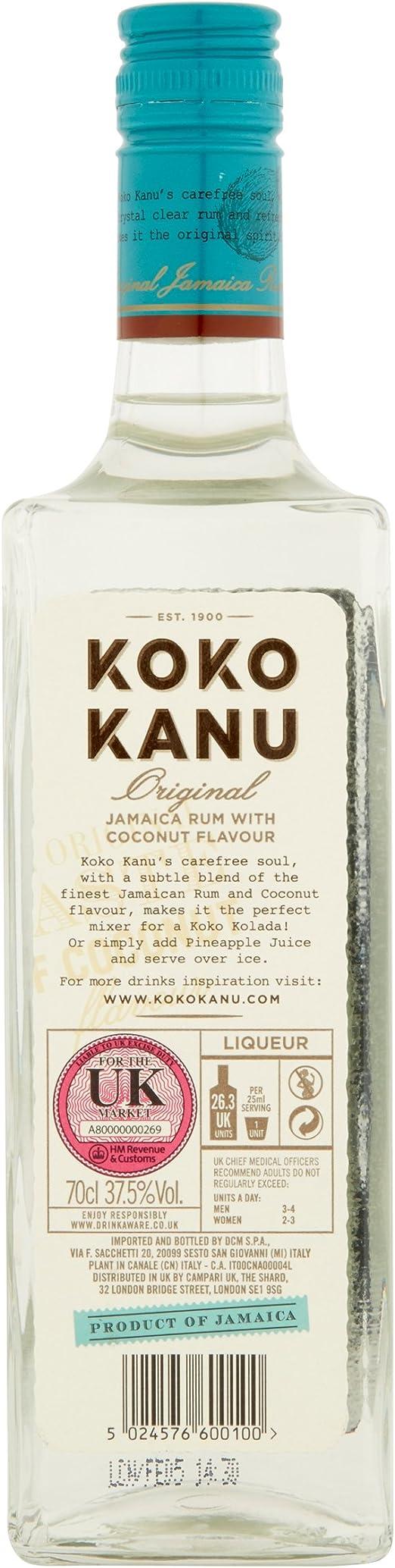 Koko Kanu Coconut Rum Likör (1 x 0.7 l): Amazon.es ...