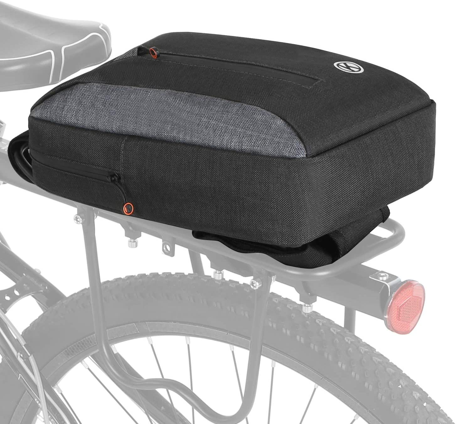 2-in-1 Bicycle Trunk Bag Casual Chest Sling Pack Bag Cycling Bike Rear Rack Carrier Bag Pannier Walmeck