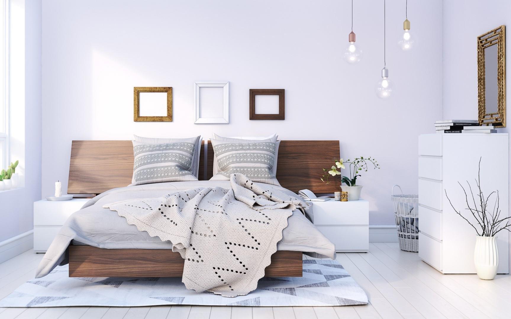 Nexera Denali 5 Piece Full Size Bedroom Set Walnut and White