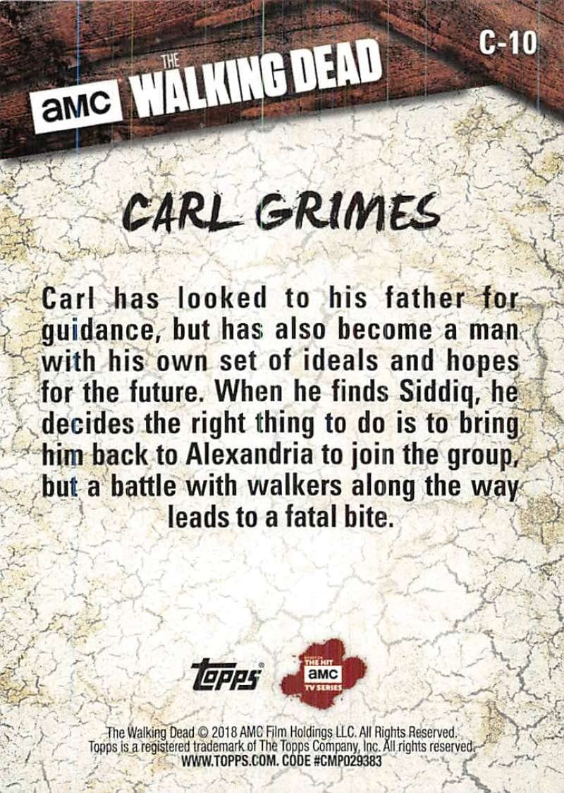 2018 Topps The Walking Dead Season 8 Part 1 Character Cards C-10 Carl Grimes