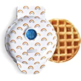 Dash DMW100RP Machine for Individual, Paninis, Hash Browns, & other Mini waffle maker, 4 inch, White Rainbow