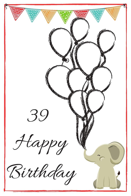18 Happy Birthday   Baby Elephant Cute 18th Birthday Card Quote ...