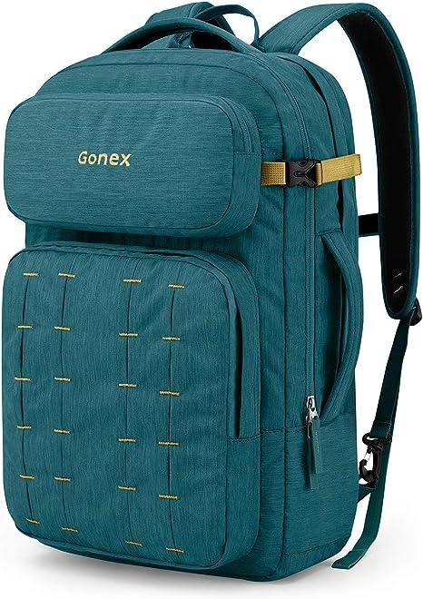 Gonex 30L Sac /à Dos pour Ordinateur Portable 17 Pouces Durable avec Bretelles Amovible pour Travail Bureau Coll/ège Affaires et Voyage