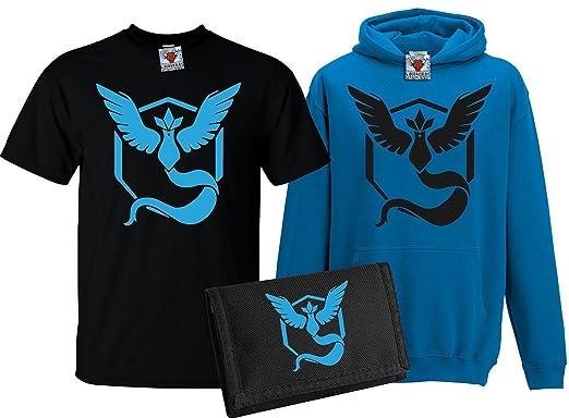 8ab5ae2d9cbe4 Amazon.com: Bullshirt Kid's Team Mystic T-Shirt, Hoodie & Wallet Set ...