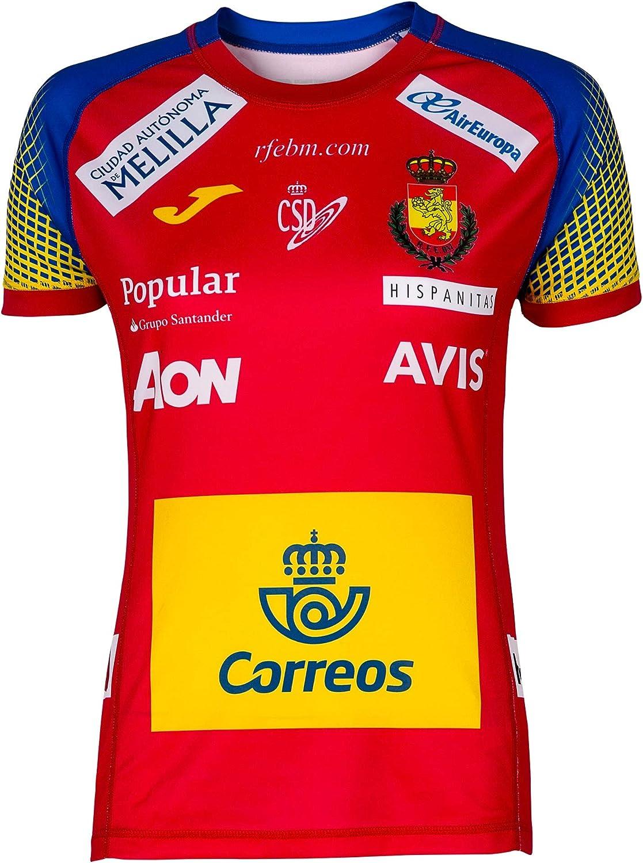 JOMA SPORT Camiseta Oficial Seleccion Española de Balonmano roja: Amazon.es: Deportes y aire libre
