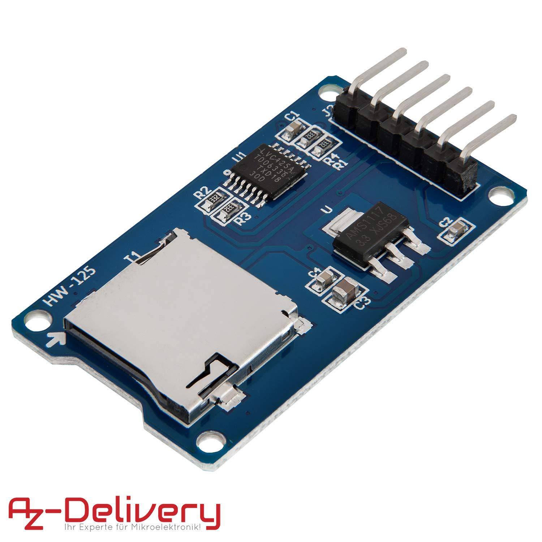 AZDelivery SPI Reader Lector de Tarjeta SD TF modulo Memory Card ...