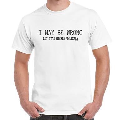 Amazon.com: Mens Funny Sayings Slogans T Shirts-I May Be Wrong ...