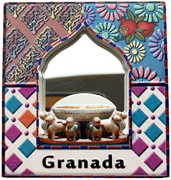 Weekinglo Souvenir Imán de Nevera Alhambra Granada España Espejo ...