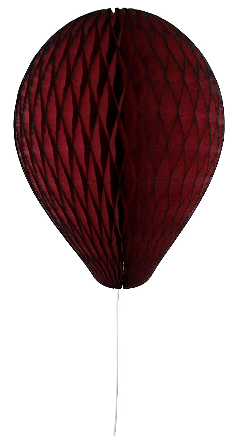 6-pack 11 Inch Honeycomb Tissue Paper Balloon (Maroon) Devra Party