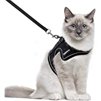rabbitgoo Cat Harness and Leash for Walking, Escape-Proof No Choke Reflective Vest Harnesses for Medium Large Cats…